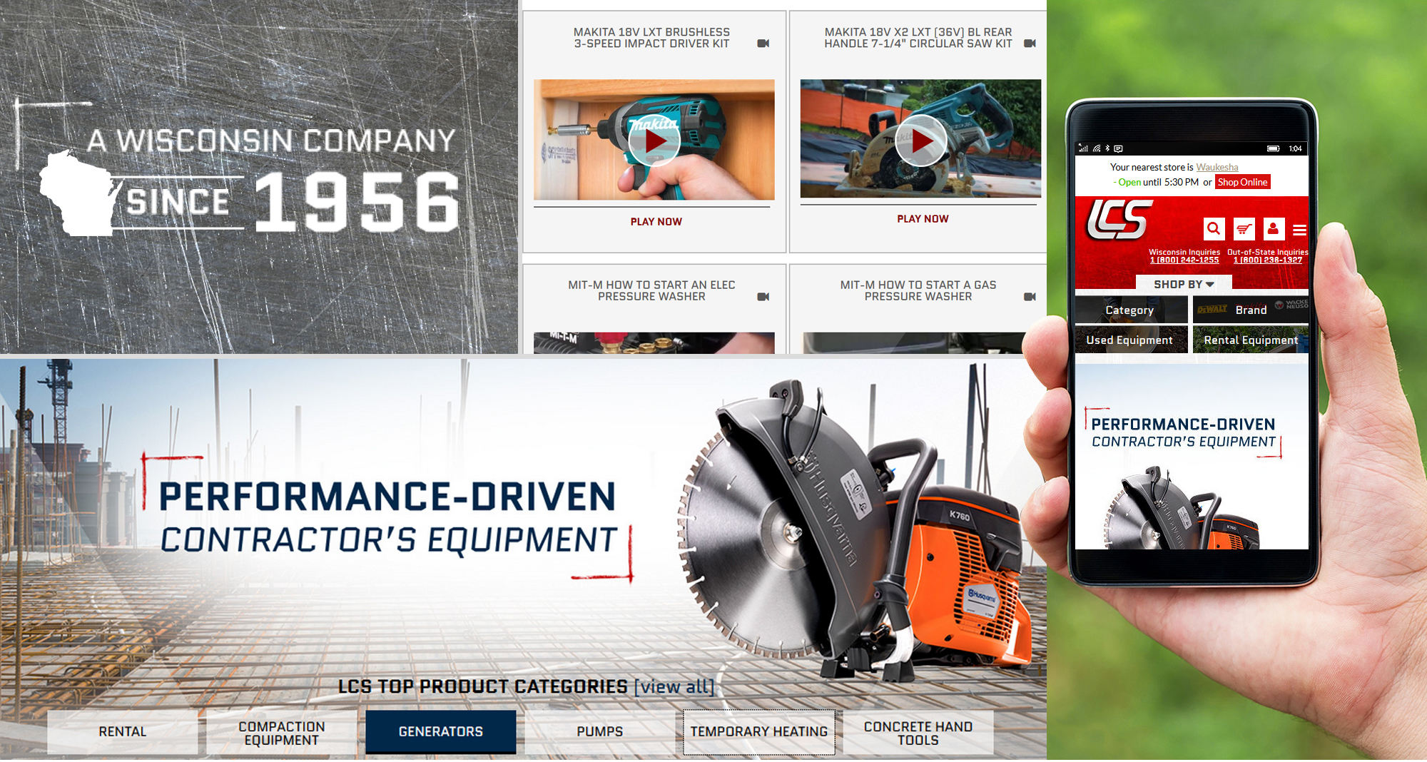 Milwaukee web marketing for the Contractor Equipment Supplier