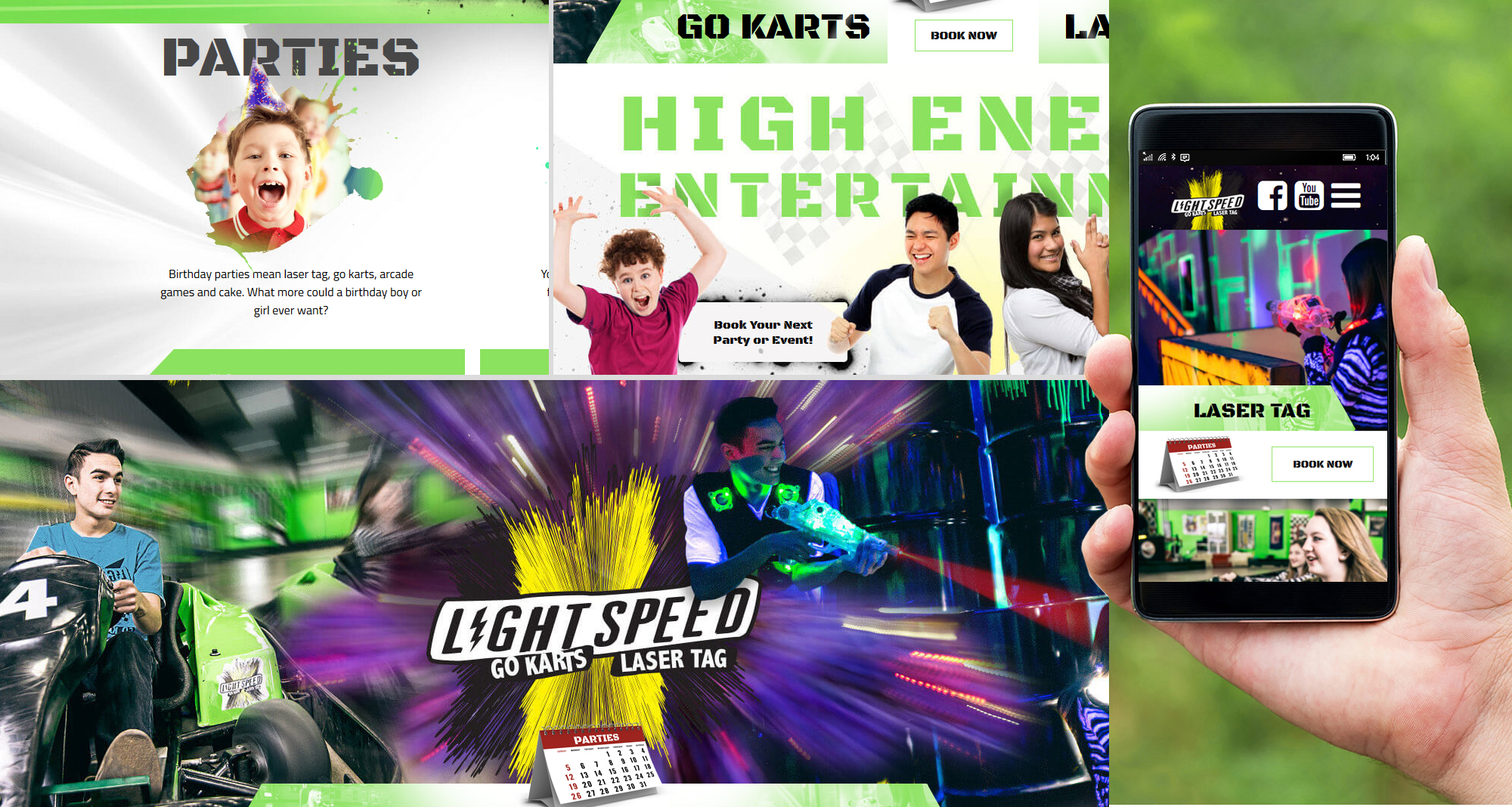 Milwaukee web marketing for Light Speed Go Karts/Laser Tag