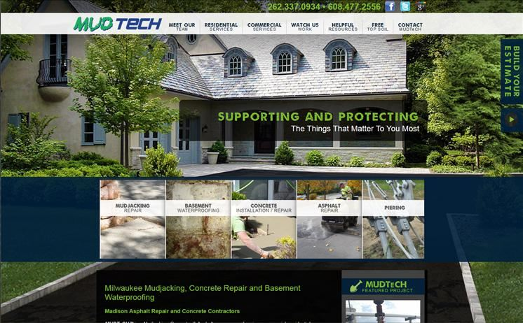 Waukesha residential and commercial constructive services connect with their targeted audience through iNET's creative web design and SEO
