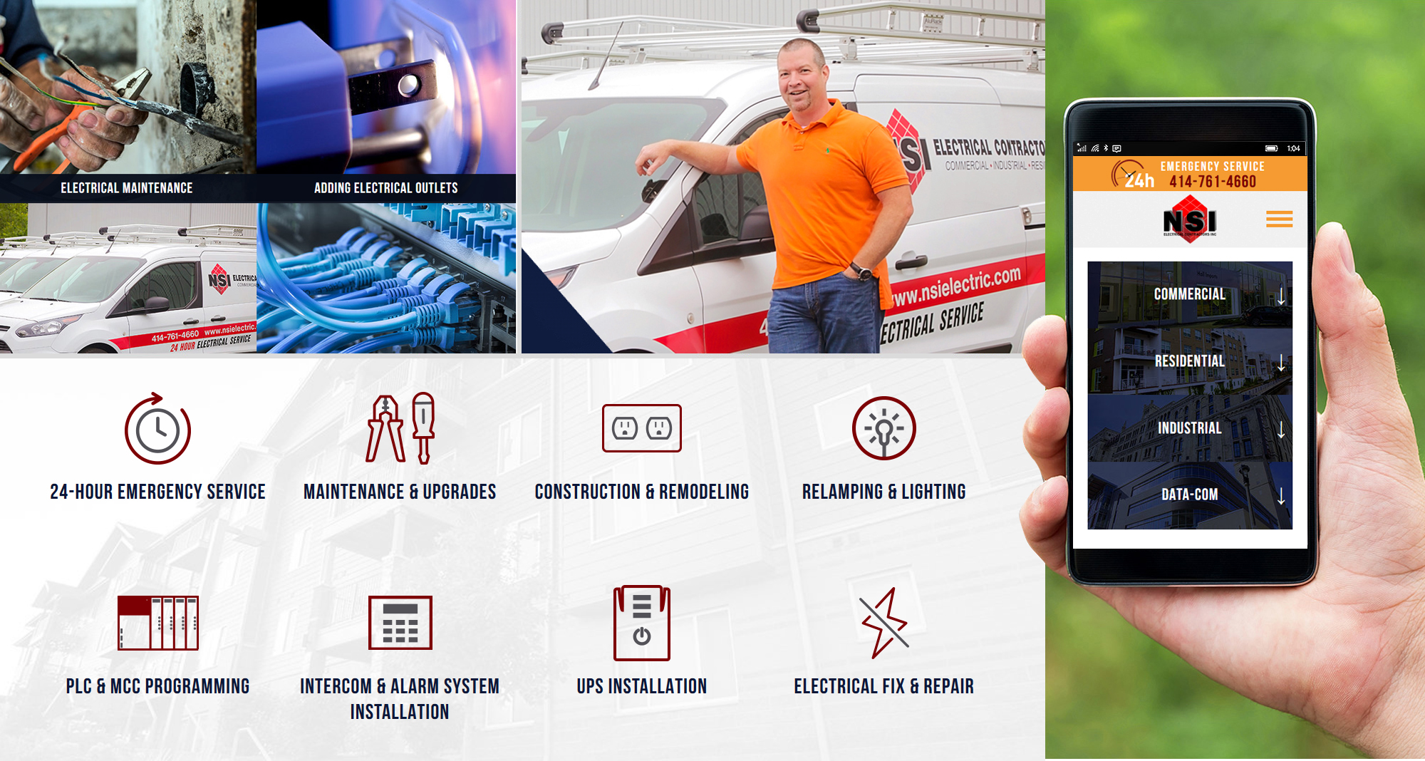 Milwaukee web marketing for NSI Electrical Contractors