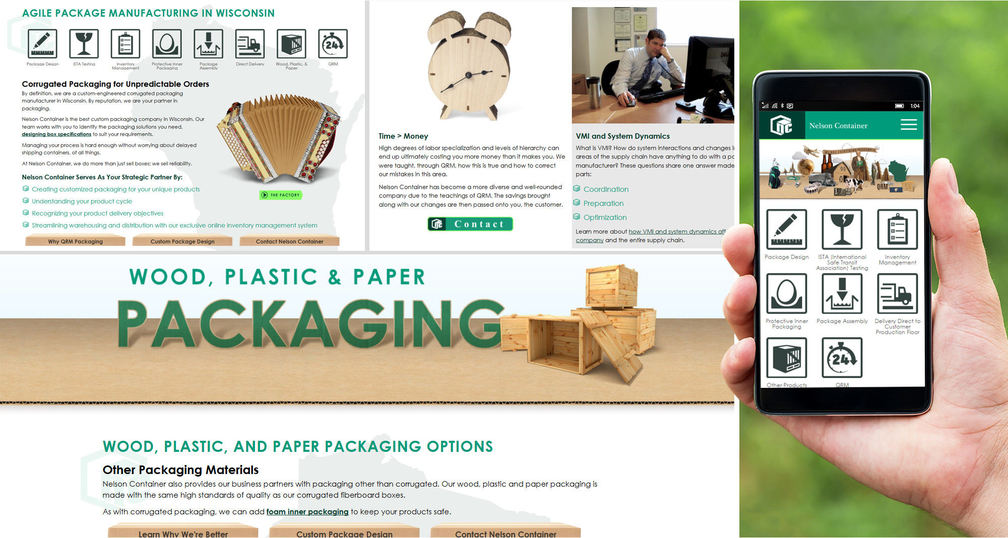 Corrugated Packing Website by iNET