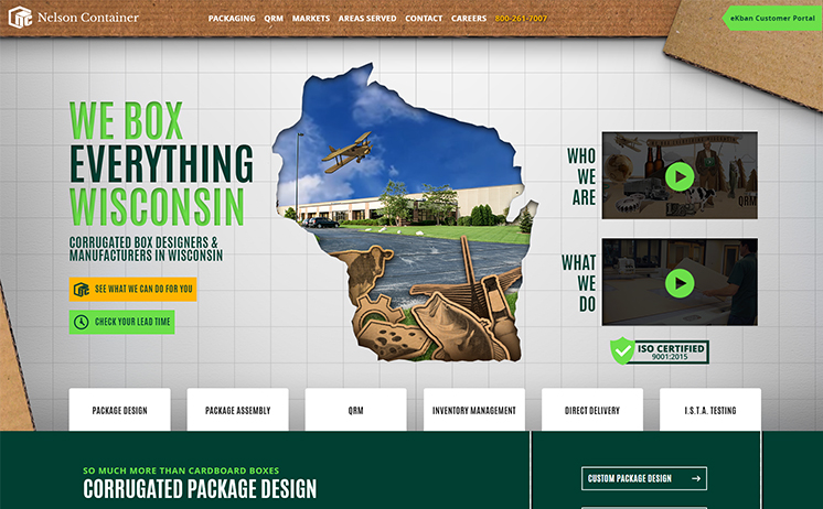 Wisconsin packaging company relies on iNET's innovative website marketing strategies in reaching out to customers and prospects