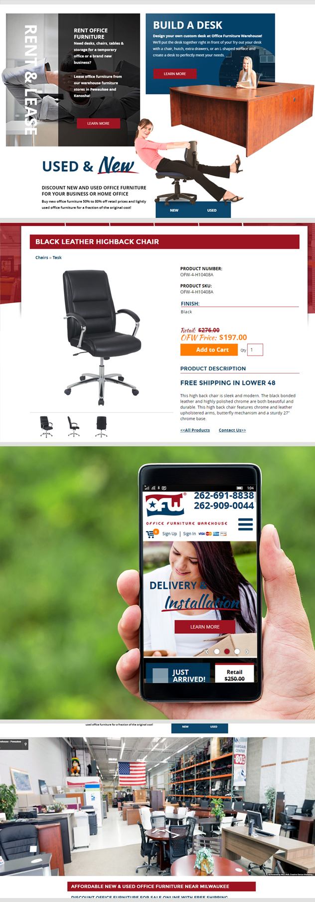 Milwaukee web marketing for Office Furniture Warehouse