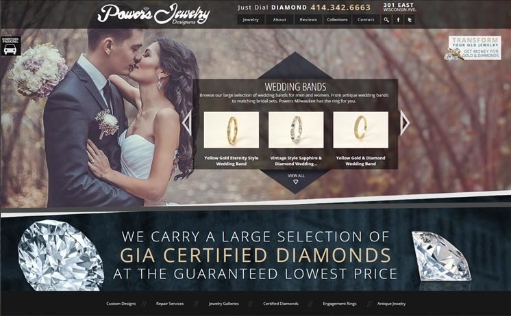 Jewelry designers show off stunning diamonds and gems through iNET's quality web design and development
