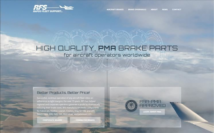 Aircraft brake part suppliers soar within their client-base, benefiting the most from iNET's pioneering website design