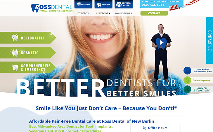 Milwaukee area businesses for dental services suceed with iNET's marketing specialists