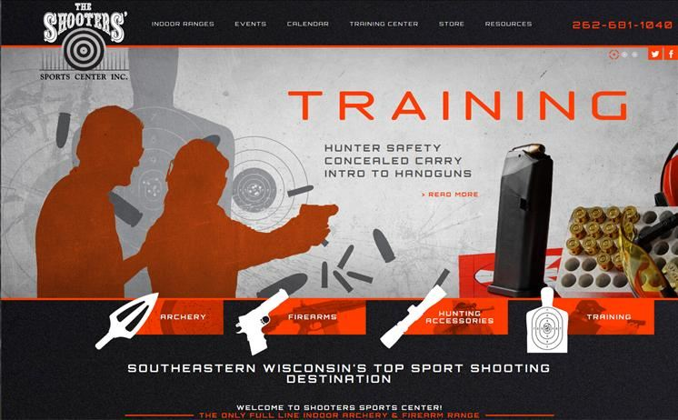 Waukesha's indoor shooting range targets the right audiences with the help of iNET's innovative web designers