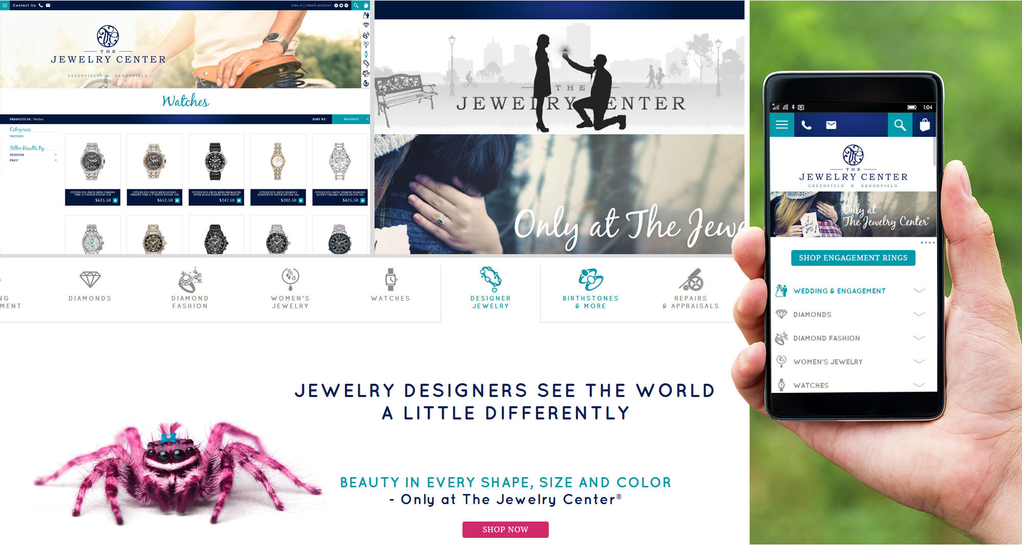 Jewelry Store Ecommerce Site Developed by iNET