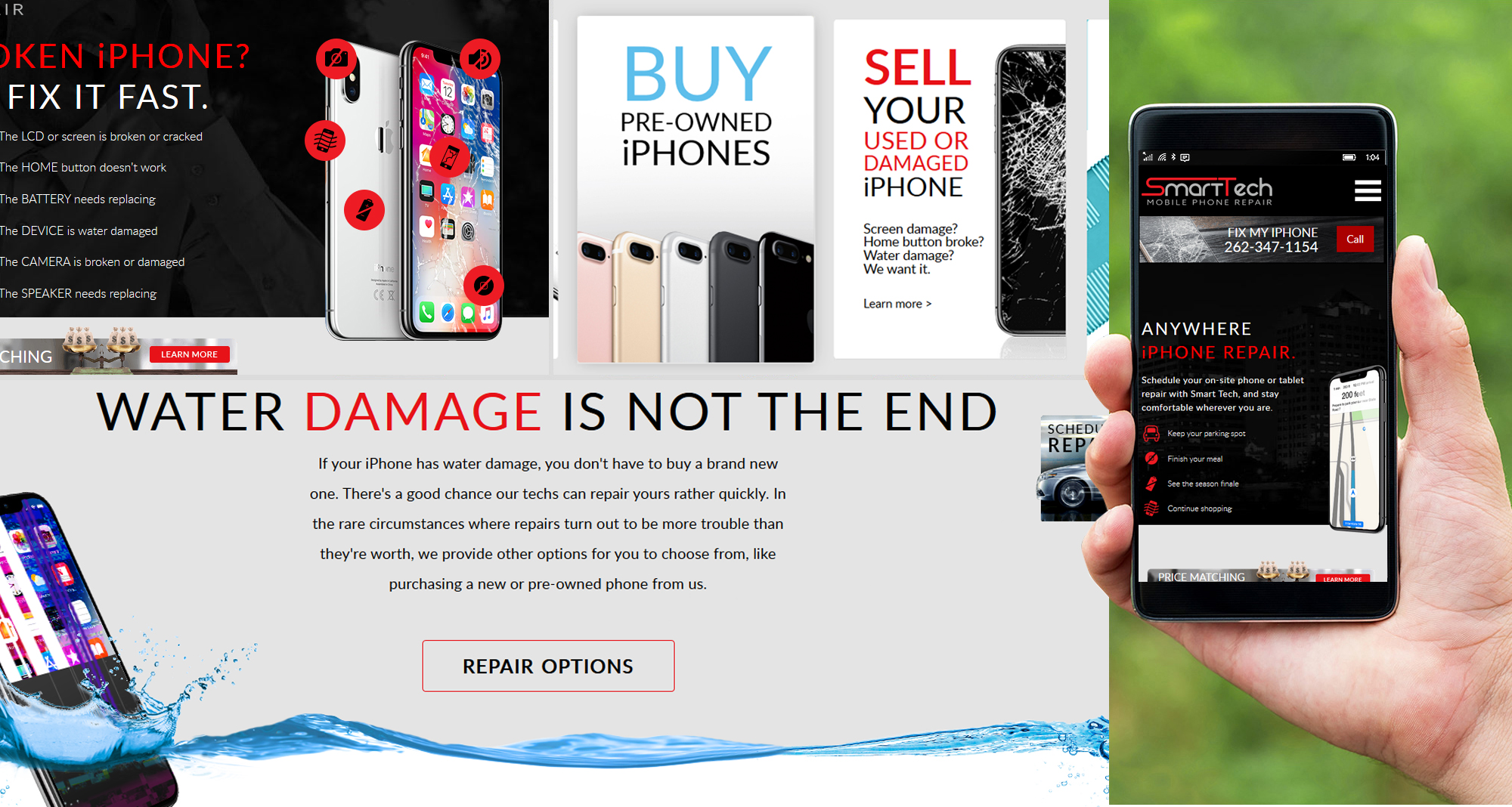 Milwaukee web marketing for Smart Tech Mobile Phone Repair