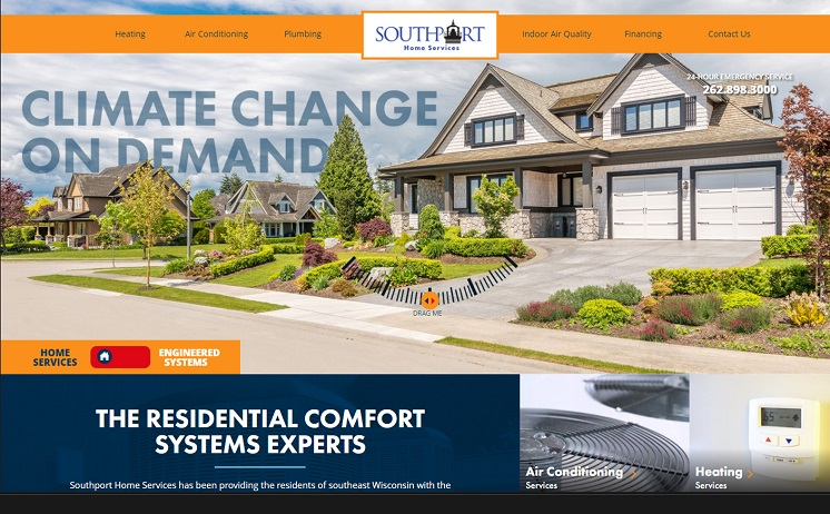 Milwaukee web design and development for Plumbing and HVAC Company
