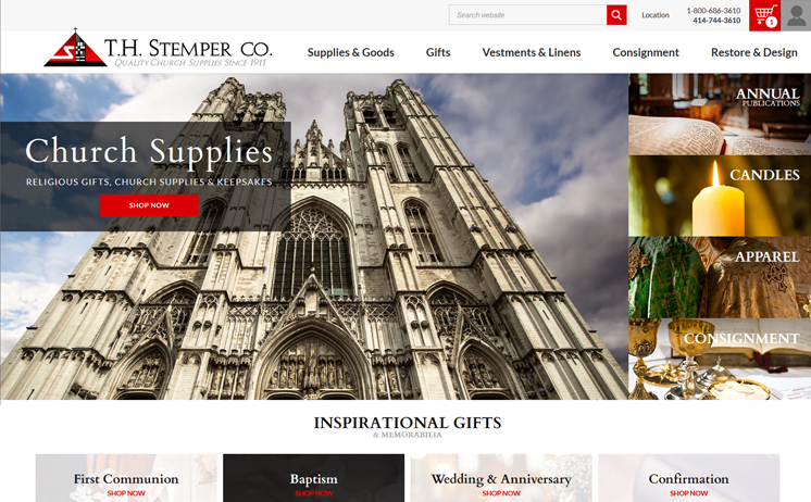 iNET in offers a variety of marketing avenues with website design, SEO and radio advertising for Milwaukee church supply company