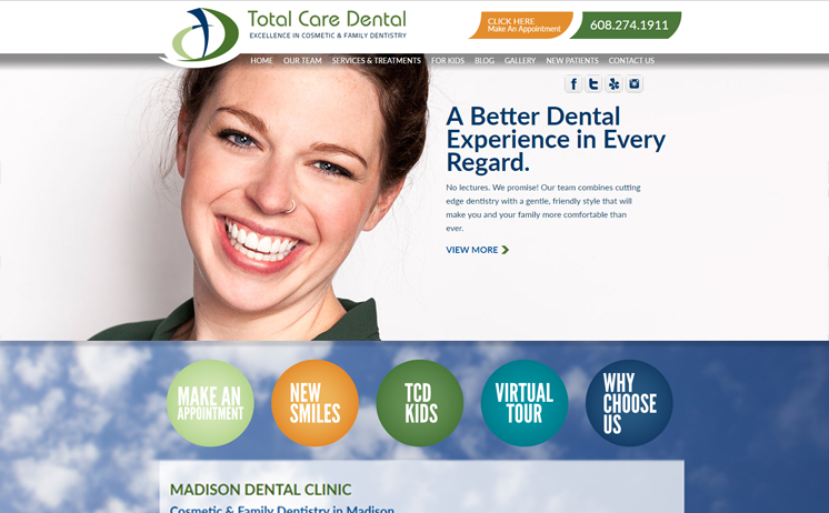 iNET crafts professional website marketing strategies for Madison dentists