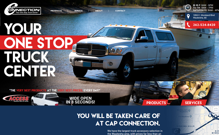 Waukesha truck accessory dealer's business grows with website design and development from iNET