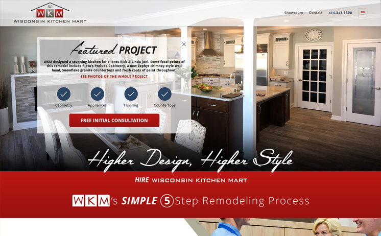 Milwaukee kitchen and bathroom remodeling company succeeds with iNET web design and development