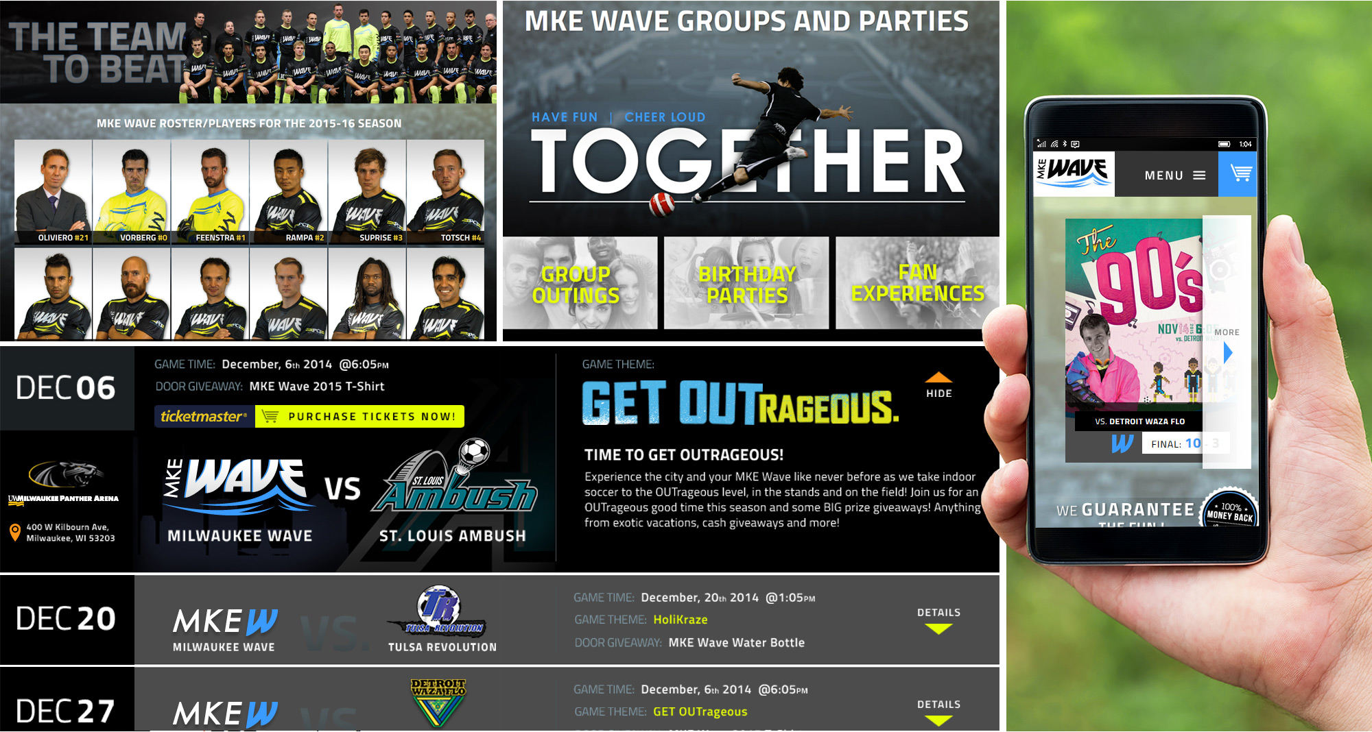 Milwaukee Wave Website Designed by iNET