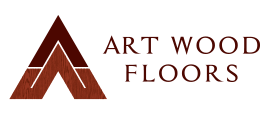 Art Wood Floors logo designed for flooring company in Milwaukee