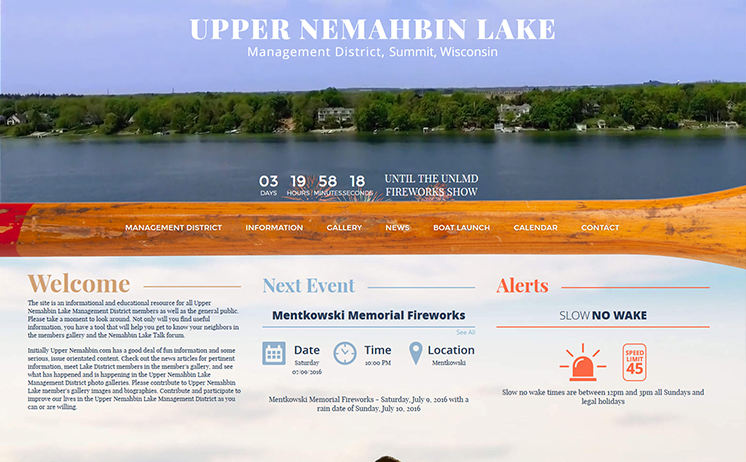 Waukesha Upper Nemahbin website development proves a people pleaser from sun up to down