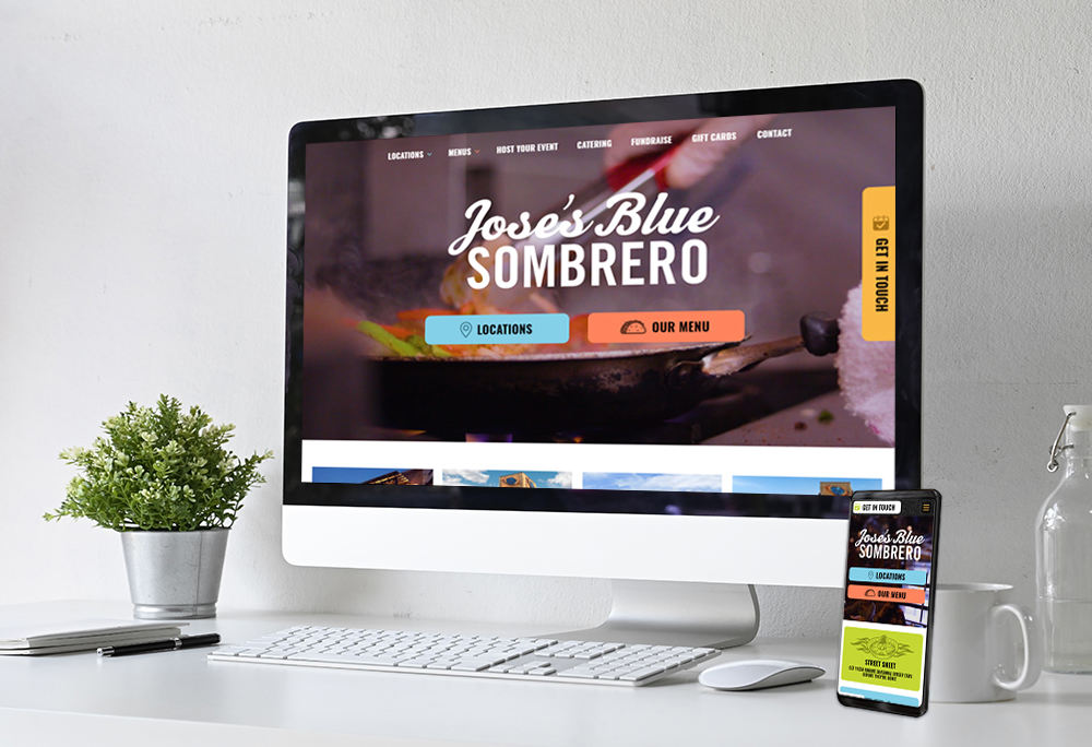 Mobile-responsive website for Jose's Blue Sombrero built by iNET