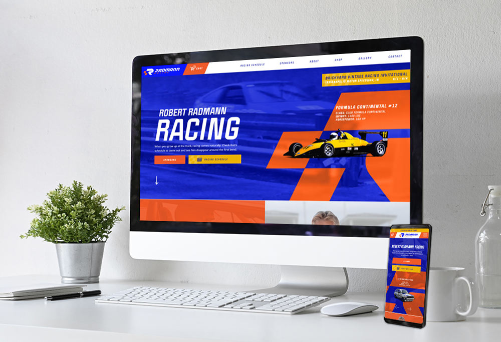 Mobile-responsive website for Radmann Racing built by iNET