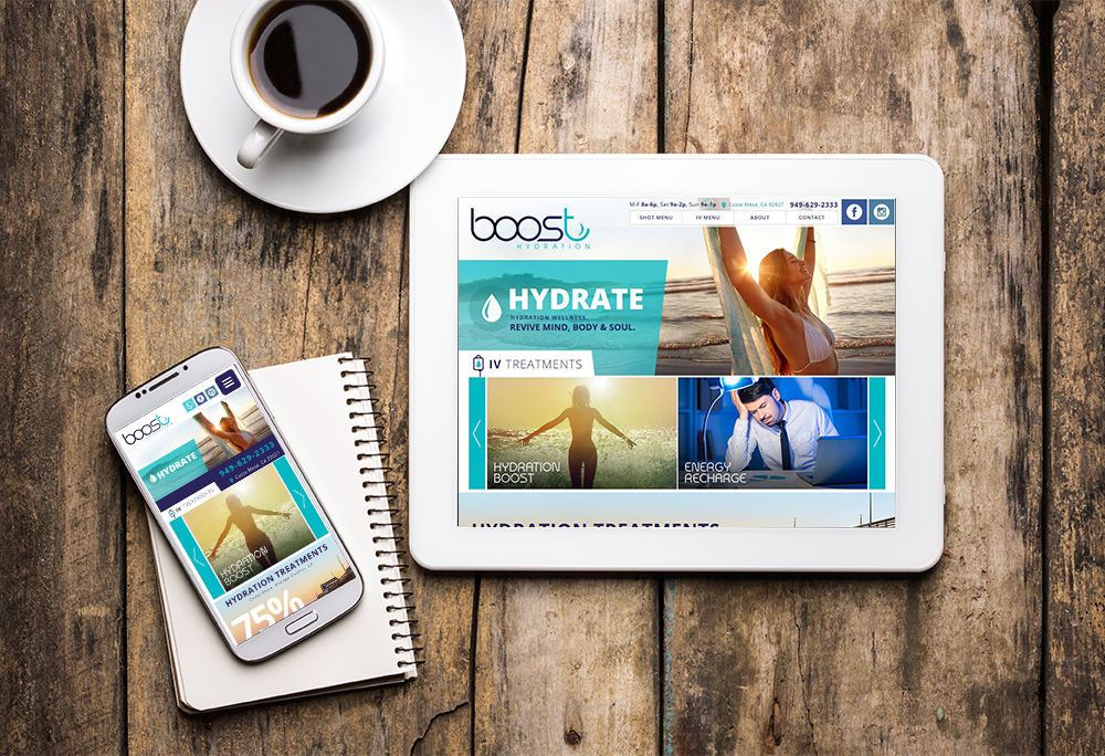 Mobile-responsive website for Boost Hydration built by iNET